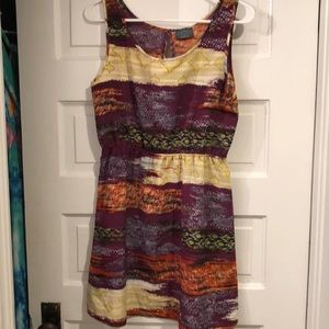 NWOT Tinsley Orange & Purple Open back dress SMALL